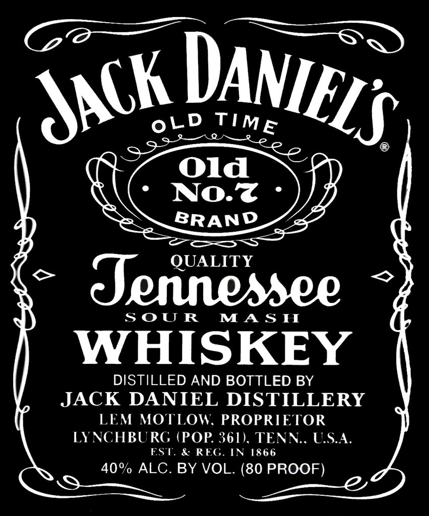 This is a graphic of Soft Jack Daniels Label Template