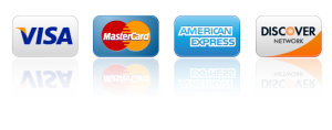 Pay with Visa Mastercard American Express Discover or PayPal